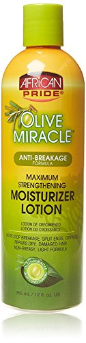 AFRiCAN PRIDE OLIVE MIRACL MAXI.STR. MOISTURIZING LOTIO 12oz