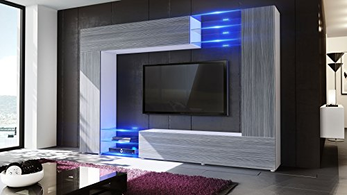 Wohnwand – Vladon Vaterartikel Mirage  Weiß kaufen  Bild 1*