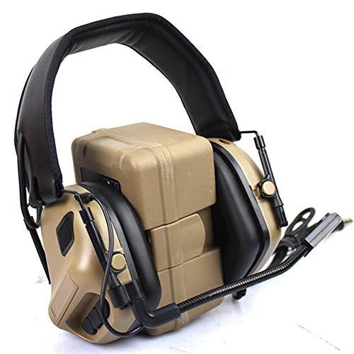 Auriculares Tácticos Al Aire Libre Auriculares De Caza Radio Walkie con Micrófono Auriculares Impermeables Sin Reducción De Ruido,Verde
