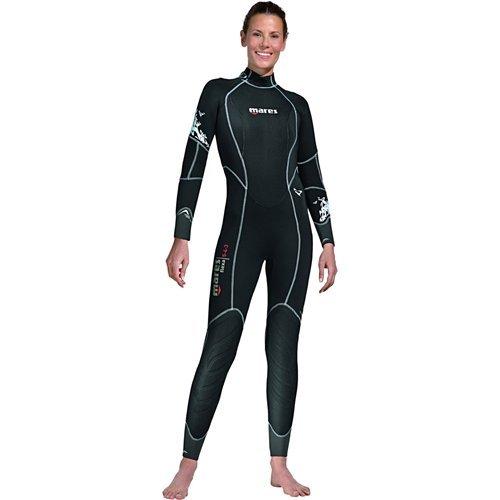 Mares Women's Flexa 5-4-3 Wetsuit, Black (She Dives), XXXL/Size 16