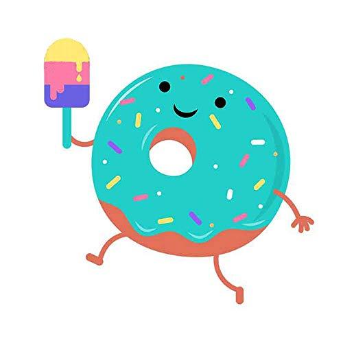 13 cm x 12,8 cm voor donuts, die ijs eten graffiti-sticker Diy Anime Personity Creative Stickers Car Wrap