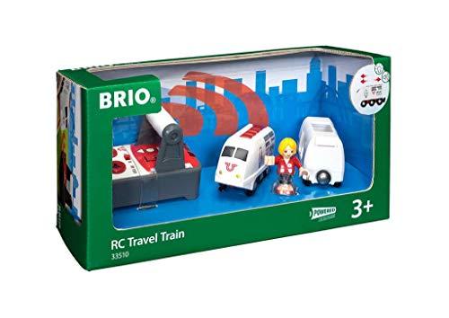 BRIO World 33510 IR Express Reisezug – Elektrische Lokomotive mit Fernsteuerung – Zubehör für die BRIO World – Kleinkindspielzeug empfohlen ab 3 Jahren