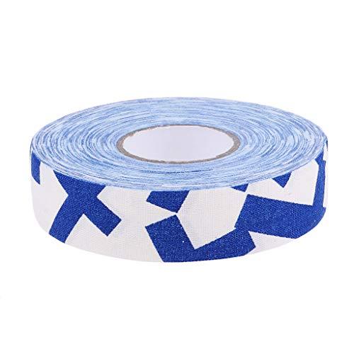 FLAMEER Sticky Grip Tape Ice Hockey Wrap - Blau Weiß