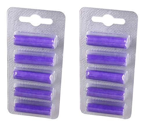 blupalu 10 Stück I Deo-Sticks I Lavendel Geruch I Duft-stäbchen für Staubsauger I Staubsauger-beutel frisch und angenehm I Purpel Lavender I Lila