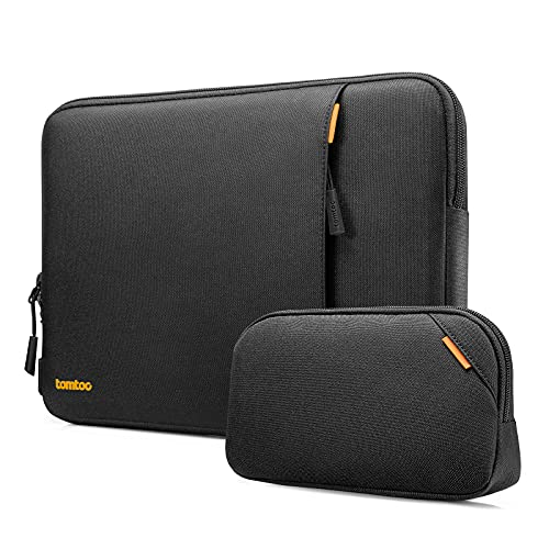 tomtoc Recycled Laptop Sleeve for 13-inch MacBook Air M1/A2337 A2179 2018-2021, MacBook Pro M1/A2338 A2251 A2289 2016-2021, 12.9 iPad Pro 5th/4th/3rd Gen, 360 Protective Case Bag with Accessory Pouch