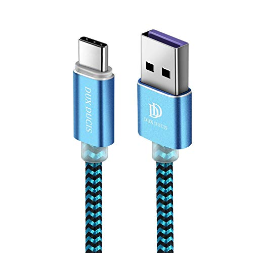 DUX DUCIS Cavo per Huawei Mate 20 / Mate 20 Pro / Mate 20 Lite / P20 / P20 PRO / P20 Lite, Cavo USB Tipo C Super Charge in Nylon per Tutti i Dispositivi di Type C Huawei (1M)