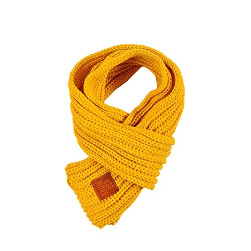 Boomly Baby Kinder Strickschal Wollschal Niedlich Winter warm Schals Halstücher Nackenwärmer Für Jungen Mädchen (Gelb)