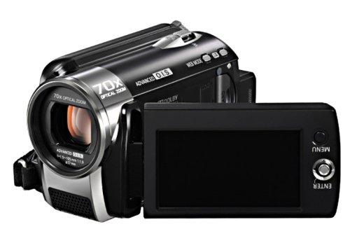 Panasonic SDR-H80 EG9-K SD/HDD Camcorder (SD/SDHC-Card, 60GB Festplatte, 70-fach opt. Zoom, 6,9 cm (2,7 Zoll) Display) schwarz