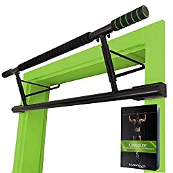 """✅ NO SCREWS NEEDED, NO DRILLING – IMMEDIATELY READY TO USE - No assembly required! Simply hang your new """"Matador"""" pull-up bar in the door frame! Your can start your fitness training immediately. ✅ REMOVEABLE WITHOUT TRACE - After the training you can..."""