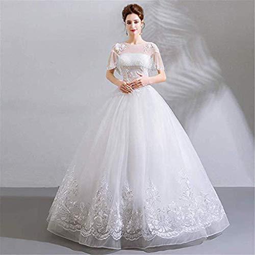 Vestido de novia para mujer, simple, cómodo, organza perspectiva, accesorios para novia, princesa, vestido de noche, XXL, LIFU