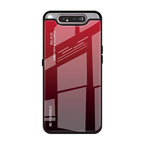 Handyhülle Für Samsung Galaxy A80, Samsung A80 Panzerglas Hülle Hart Trendiger Stil Hülle Anti-Rutsch Tasche Anti-Fingerabdruck Hardcase (2, Galaxy A80)