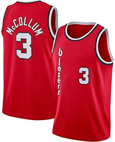 WSWZ Camisetas De La NBA - Blazers NBA 3# C.J. Mccollum Camiseta De Baloncesto para Hombre - Chalecos Cómodos Casuales Camisetas Deportivas Camisetas Sin Mangas,B,XL(180~185CM/85~95KG)