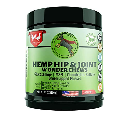 WonderPet Care Hemp Hip & Joint Supplement for Dogs Chondroitin...