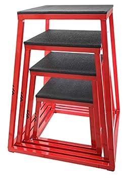 JFIT Plyometric Jump Box Set of 4 - 12  18  24  30