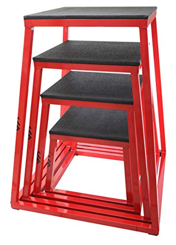 JFIT Plyometric Jump Box Set of 4 - 12',18',24',30' (10-0190)