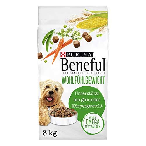 PURINA BENEFUL Wohlfühlgewicht Hundefutter trocken, mit Huhn und Gartengemüse, 4er Pack (4 x 3kg)