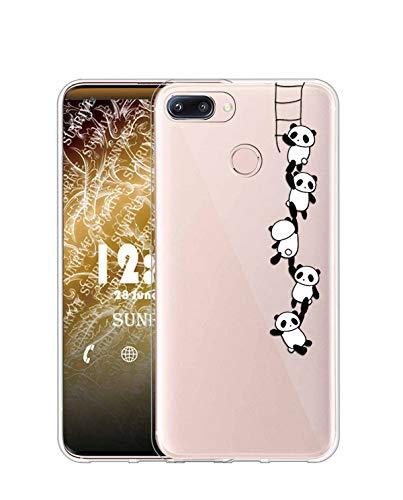 Sunrive Kompatibel mit Nubia Z11 Mini Hülle Silikon, Transparent Handyhülle Schutzhülle Etui Hülle (TPU Panda 1)+Gratis Universal Eingabestift MEHRWEG