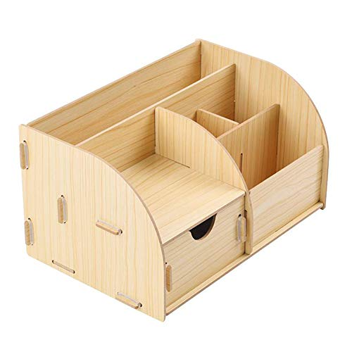 WopenJucy Papierrollenhalter aus Holz, Büro-Kombination, Multifunktions-Schubladenmontage