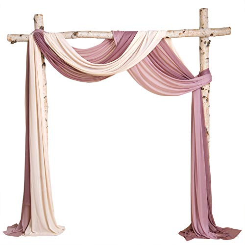 fabric drapes for wedding arches