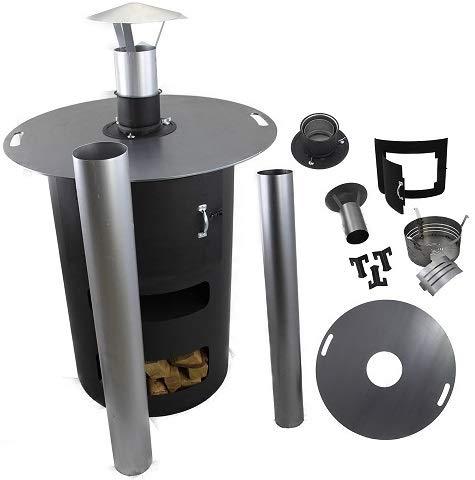 A. Weyck Tools Multifunktionstonne | Feuertonne | Feuerplatte | Dutch Oven Station | Pizza Ofen | Kamin | Plancha | Komplettsets (Multitonne-Kamin Set)