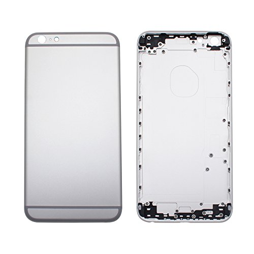 COHK Replacement Metal Back Housing Metal Alloy Back Cover Replacement for iPhone 6S Plus 5.5 inches (Silver)