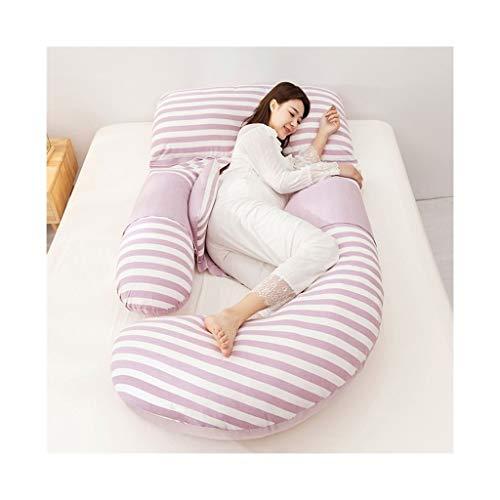 Zwangerschap Comfort Kussen Zwangerschap Terug Ondersteuning Knuffel Verpleging Borstvoeding Volledige lengte Ondersteuning met Verwijderbare Wasbare Rits Paars