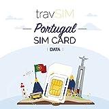 travSIM - Tarjeta SIM Prepaga Portuguesa(SIM de Datos para-Portugal) - 1GB de Datos Móviles para Usar en Portugal Válido por 30 Días - la Tarjeta SIM de Datos Funciona en más de 30 Países