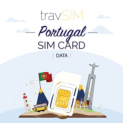 travSIM - Tarjeta SIM Prepaga Portuguesa(SIM de Datos para-Portugal) - 3GB de...