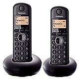 Panasonic KX-TGC212E - Teléfono (Teléfono DECT, Altavoz, 50 entradas, Identificador de llamadas, Negro)