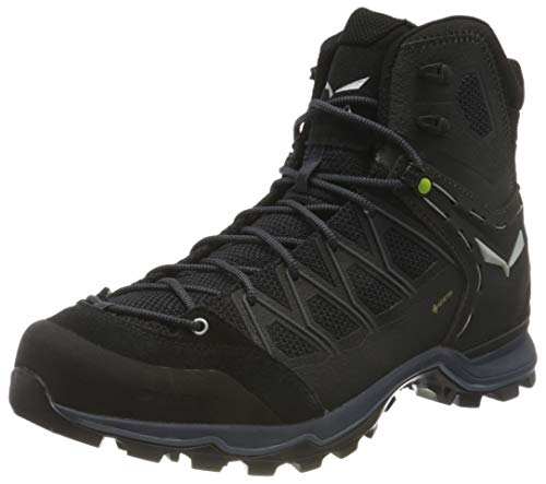 Salewa MS Mountain Trainer Lite Mid Gore-Tex, Trekking-& Wanderstiefel para Hombre, Negro (Black/Black 0971), 46.5 EU