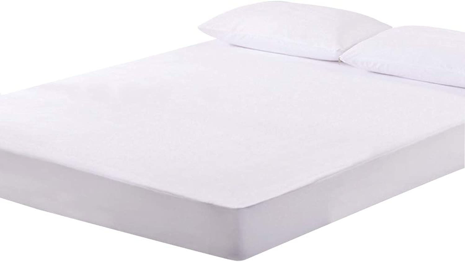 ZHAOHUI Mattress Predector Cotton Hypoallergenic Waterproof Non-Slip Breathable Soft Skin-Friendly Dust-Proof, 3 colors, 4 Sizes (color   White-150 x 200cm)