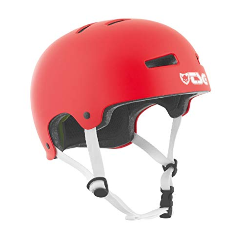 Best Review Of TSG Evolution Skate & Bike Helmet in Satin Fire Red w/Snug Fit & Triple Cert. for Ska...