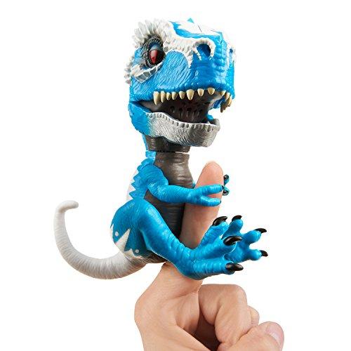 Wow Wee 3785 'TRex ferro mascella Fingerlings Untamed giocattolo, blu, Taglia unica