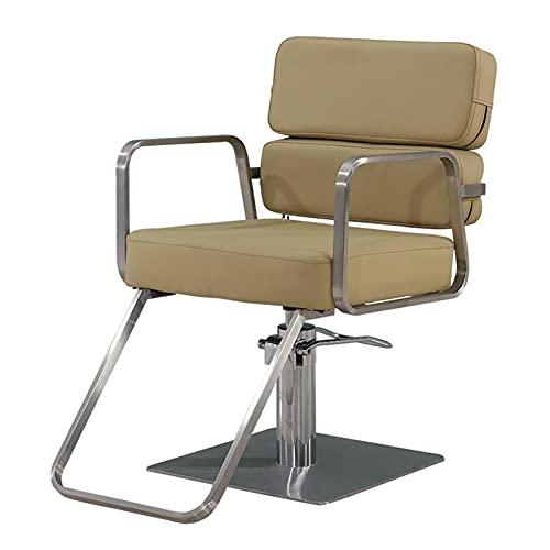 FLAMY Sillon barbero,Silla de Oficina, Bomba hidráulica rotativa de Alta Resistencia, para sillones de peluquería y peluquería Profesionales, Amarillo