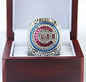 XiaKoMan 2016 M'L'B Chicago c'ub's World Series Championship Ring (Bryant 17) with Box Gifts for Men Kids Boys Youth