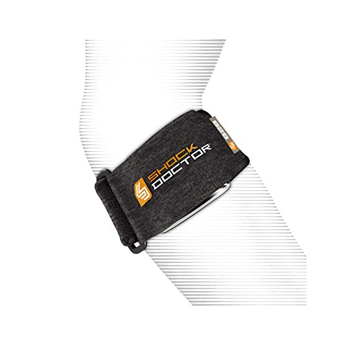 ShockDoctor Erwachsene Ellbogenschützer Tennisarmbandage Bandage, Black, One Size
