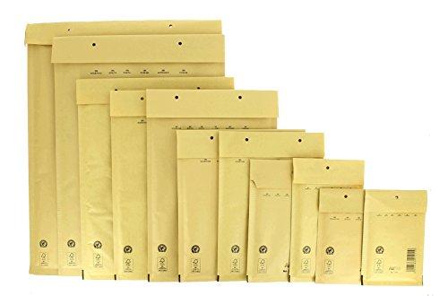 Bong AirPro - Pack de 100 bolsas acolchadas kraft, 230 x 340 mm