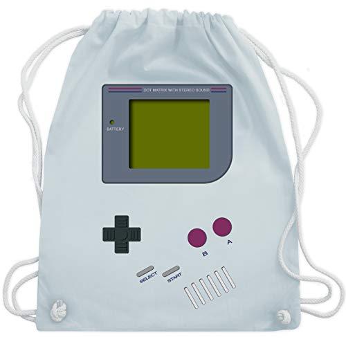 Shirtracer Nerds & Geeks - Gameboy - Unisize - Pastell Blau - 90er rucksack - WM110 - Turnbeutel und Stoffbeutel aus Baumwolle