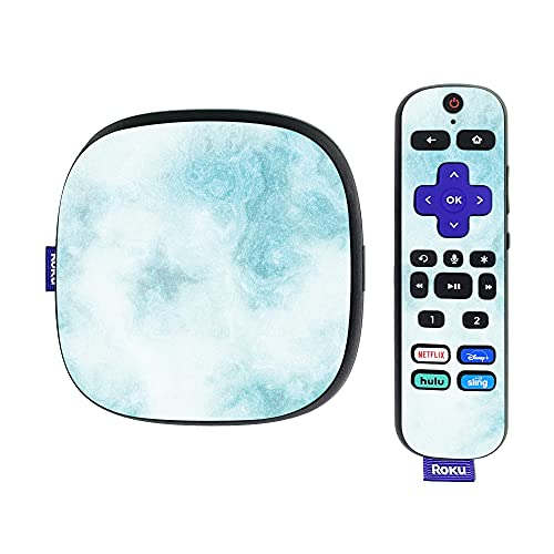 MightySkins Glossy Glitter Skin Compatible with Roku Ultra HDR 4K Streaming Media Player (2020) - Blue Marble | Protective, Durable High-Gloss Glitter Finish | Easy to Apply | Made in The USA