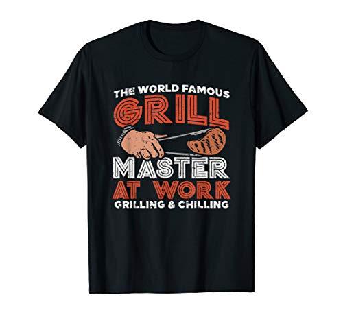 BBQ Grillmeister Geschenk Auftragsgriller Grillen Griller T-Shirt