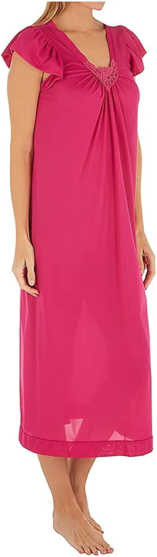 Shadowline Women's 50 Inch Cap Sleeve Nightgown 32510 XL Raspber