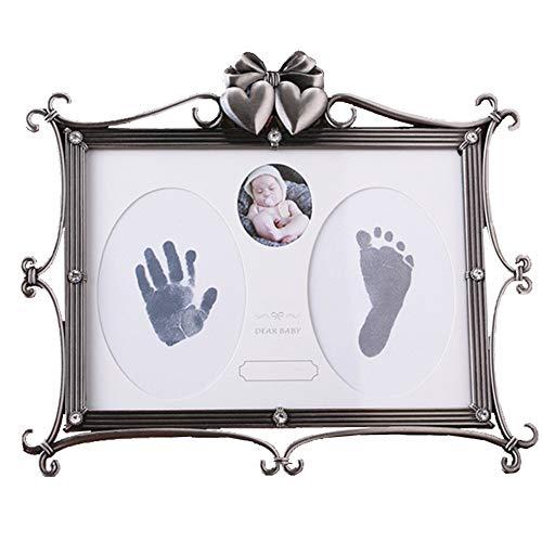 Encre bébé main et pied Bébé empreinte de la main et du pied - Div creative facile à enregistrer ensemble facile à nettoyer souvenir de bébé cadeau de 100 jours cadeau croissance croissance mode nouve