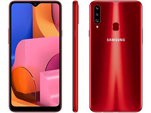 Smartphone Samsung Galaxy A20s 32gb Tela 6.5` Octa-core 1.8 Ghz 4g Câmera Tripla 13.0 Mp + 5.0 Mp + 5.0 Mp(uw) - Vermelho