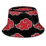 DKF Cloud-Naruto Fisherman's Hat Unique Bucket Hat Unisex Sun Protection for Women&Men Black