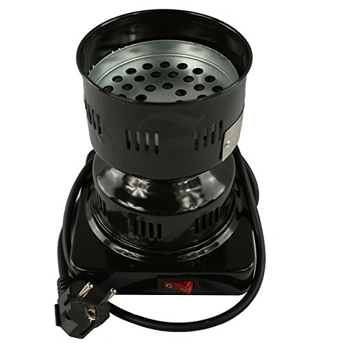 Prime Encendedor de carbón Deluxe para shisha de alta calidad, registrado en alemán, 600 W, color negro, producto de marca, eléctrico con mango,