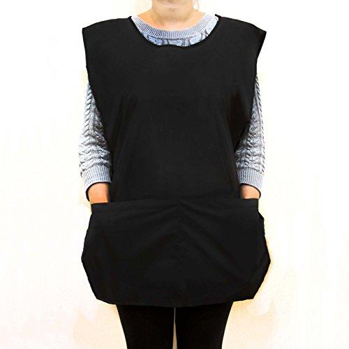 Wasserdichte Schürze/Weste, Einheitsgröße, unisex, schwarzArbeitskleidung für Frisöre.