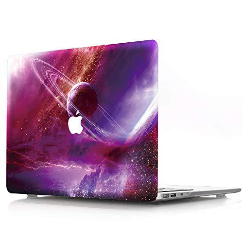 Carcasa rígida compatible con MacBook Air de 13 pulgadas / 13.3' modelo A1466 / A1369, versión antigua, lanzamiento 2010-2017, AJYX Galaxy Pattern Carcasa rígida de plástico mate, XC1 Wolf