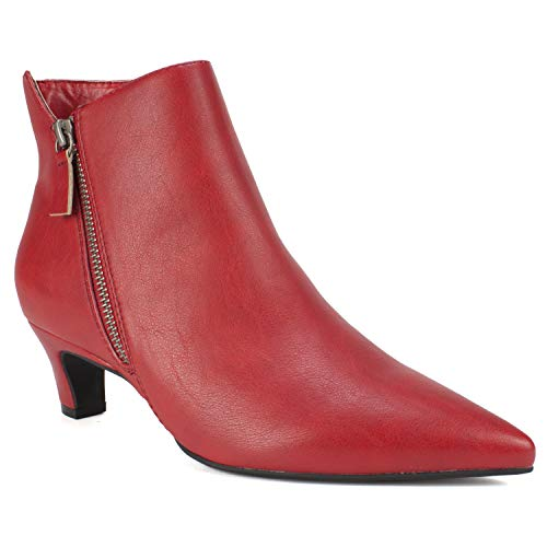 Price comparison product image SEVEN DIALS Women's Coralie Ankle Boot,  Red,  8 Medium US