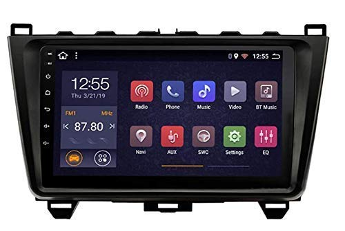 FDGBCF Estéreo de Coche Navegación GPS Nav para Mazda 6 2008-2015,9 Pulgadas Pantalla táctil Reproductor Multimedia Soporte para Coche WiFi Bluetooth 4.0 Control del Volante