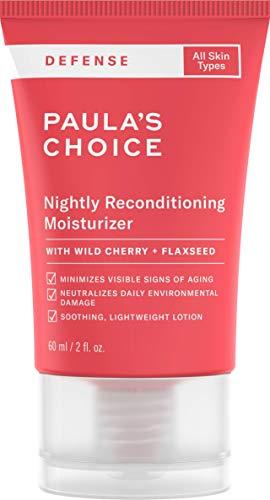 Paula\'s Choice Defense Feuchtigkeitscreme - Anti Aging Nachtcreme mit Antioxidantien die Feuchtigkeit Spendet und Sanft Pflegt - mit Glycerin & Peptide - Alle Hauttypen - 60 ml